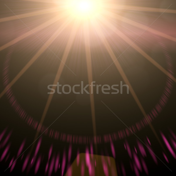 sun with rays ands sparkles Stock photo © magann