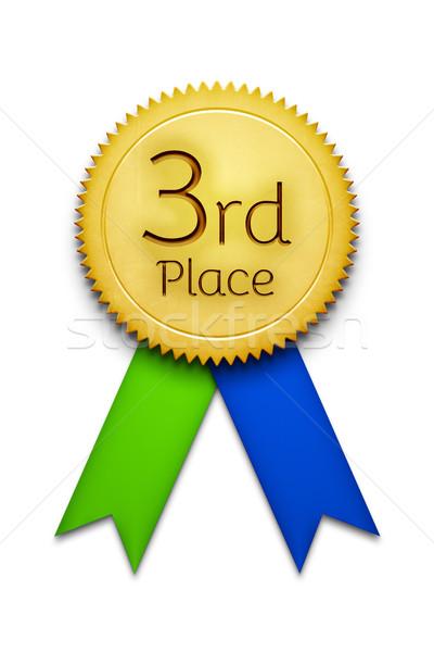 3番目の 場所 賞 リボン バッジ 実例 ストックフォト © magann