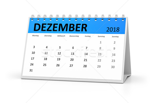 Taal tabel kalender december 3D Stockfoto © magann
