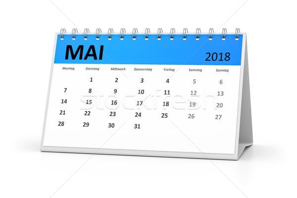 german language table calendar 2018 may Stock photo © magann