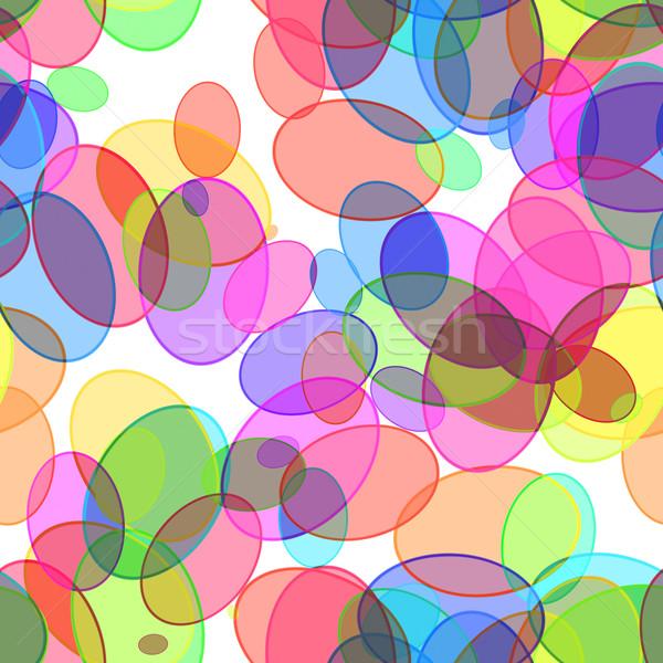 Abstract grafische cirkels afbeelding naadloos licht Stockfoto © magann