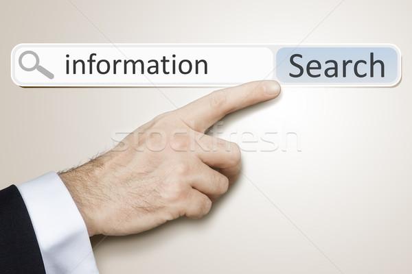 веб поиск изображение человека поиск информации Сток-фото © magann