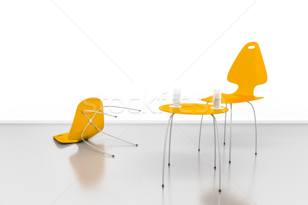 Is mislukt gesprek afbeelding twee mensen business paar Stockfoto © magann