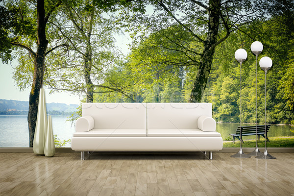 photo wall mural sofa floor Stock photo © magann