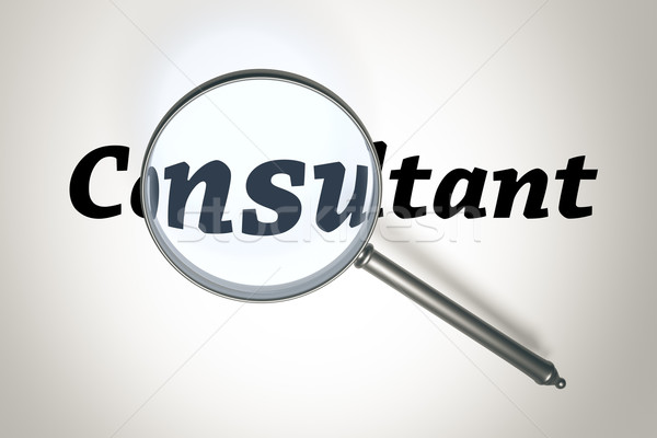 magnifying glass Stock photo © magann