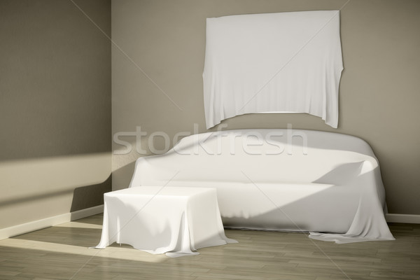 covered furniture Stock photo © magann