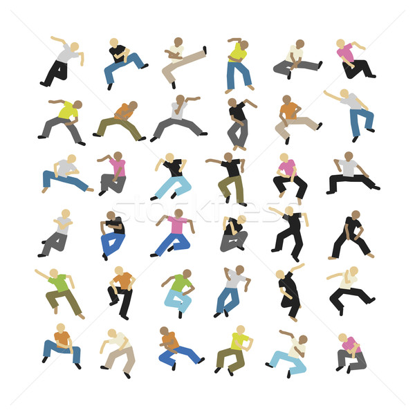 Dança conjunto vetor pessoas música festa Foto stock © magann