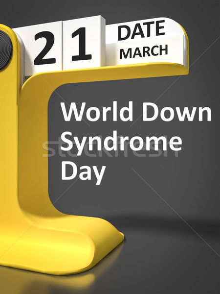 vintage calendar World Down Syndrome Day Stock photo © magann
