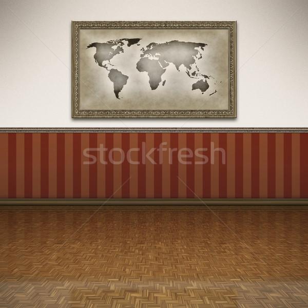 Stockfoto: Vloer · mooie · fotolijstje · muur · home · ruimte