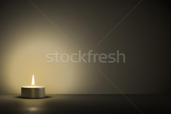 Typique espace contenu 3d illustration orange noir Photo stock © magann