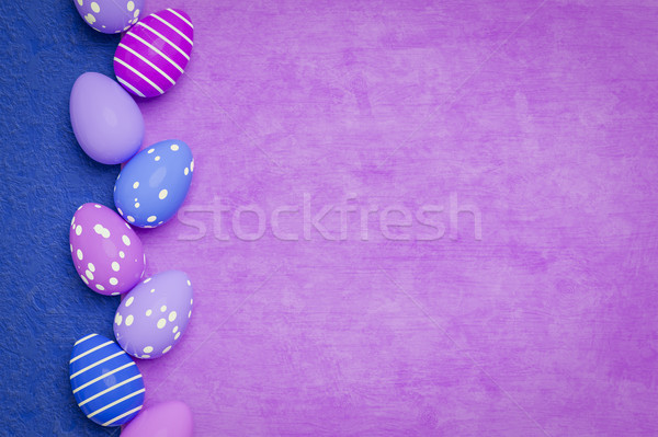 a beautiful colored eggs easter background Stock photo © magann