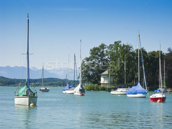 Boten meer water natuur zeilen creatieve Stockfoto © magann