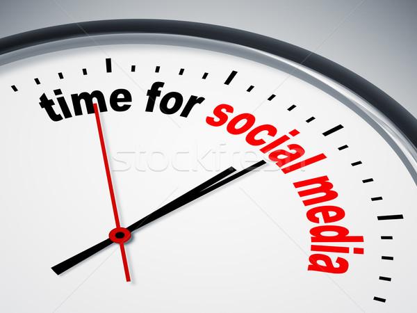 Tijd social media afbeelding mooie klok business Stockfoto © magann