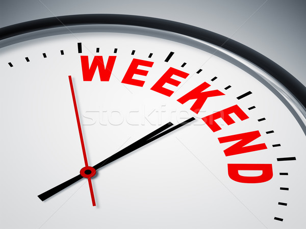 Weekend Clock Stock photo © magann