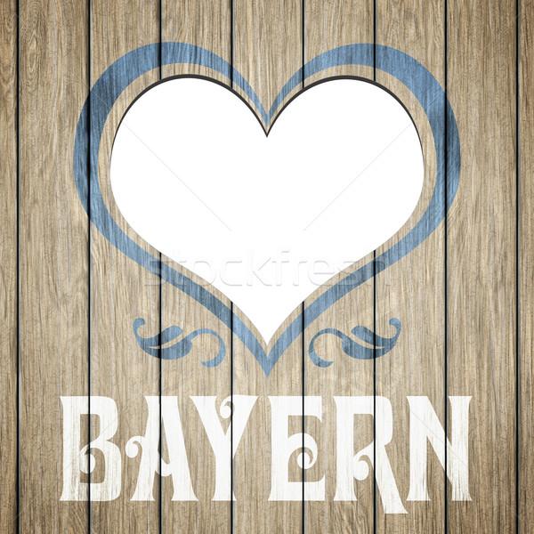 wooden heart Bavaria Stock photo © magann