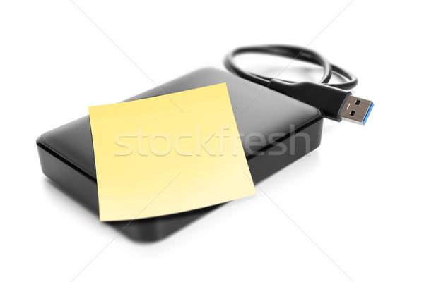Harde schijf afbeelding ruimte papier achtergrond veiligheid Stockfoto © magann