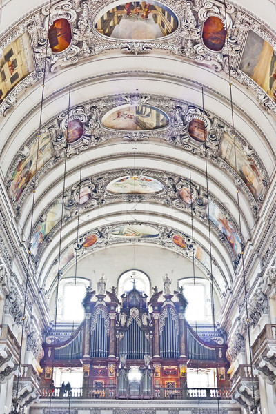 внутри изображение здании Живопись Vintage Европа Сток-фото © magann