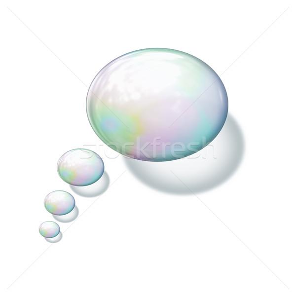 Szappanbuborék kép szép víz űr labda Stock fotó © magann