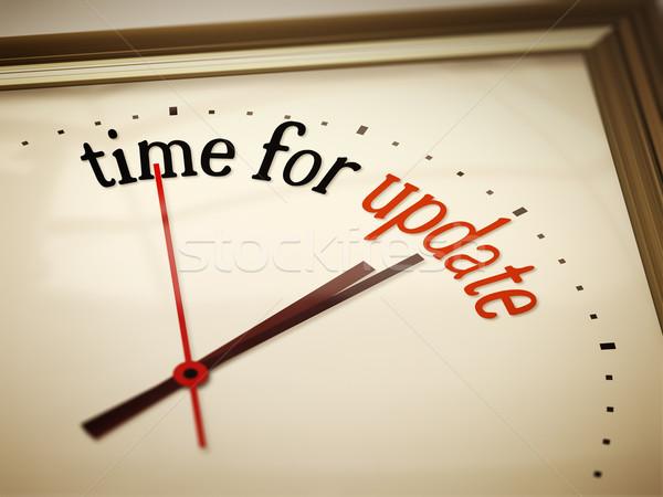 Tijd bijwerken afbeelding mooie klok business Stockfoto © magann