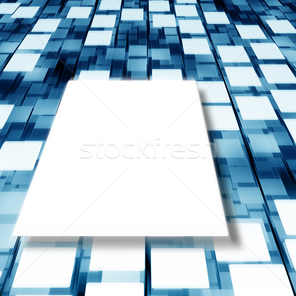 flying white squares Stock photo © magann