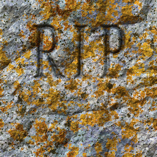 stone texture with RIP Stock photo © magann