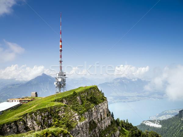 Antenne image ciel nuages nature radio Photo stock © magann
