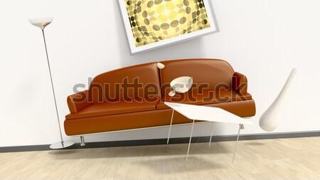 flying furniture room Stock photo © magann