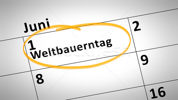 Mundo agricultores dia primeiro linguagem calendário Foto stock © magann