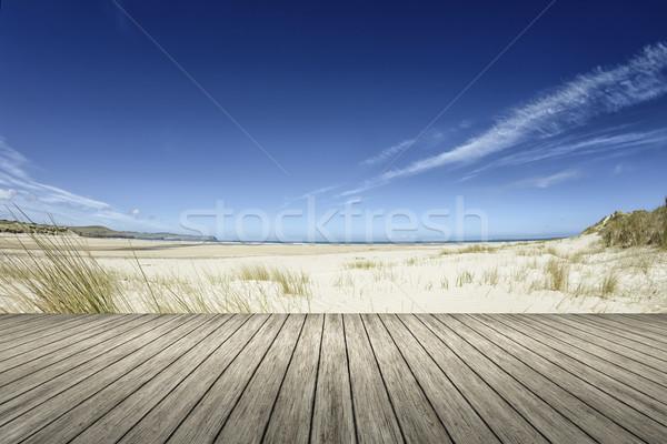 Beach wooden jetty Stock photo © magann