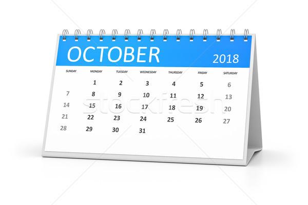 table calendar 2018 october Stock photo © magann