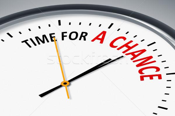 Klok tekst tijd kans illustratie typisch Stockfoto © magann