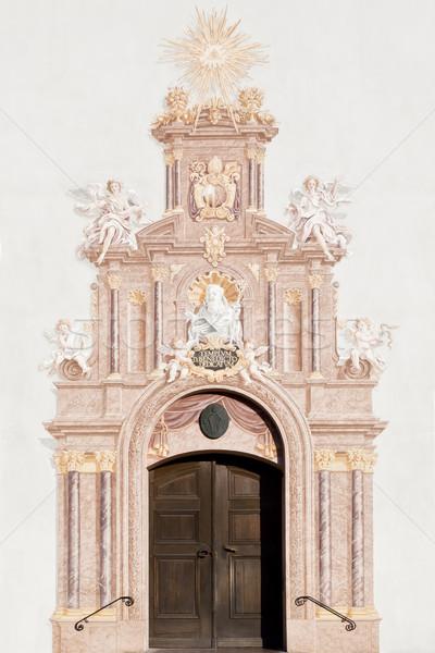 Kapı görüntü yüz duvar arka plan İsa Stok fotoğraf © magann