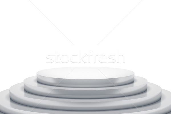 белый подиум пространстве содержание 3D Сток-фото © magann