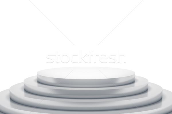 Beyaz podyum uzay içerik 3D Stok fotoğraf © magann