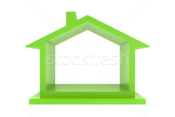 üvegház fehér 3D renderelt kép üzlet ház Stock fotó © magann