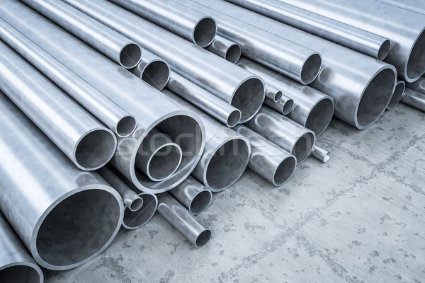 Steel Pipes Stock photo © magann