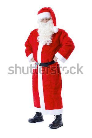 Papai noel bonito isolado branco homem feliz Foto stock © magann