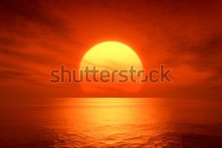 большой красивой фантазий закат океана 3D Сток-фото © magann