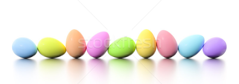 a row of dyed easter eggs Stock photo © magann