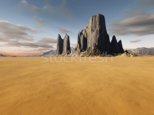 desert landscape without vegetation Stock photo © magann