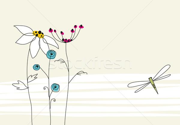 Születés üdvözlőlap vektor grafikus szép születésnap Stock fotó © magann
