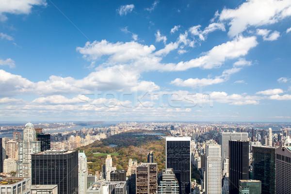 Central Park New York afbeelding hemel straat stedelijke Stockfoto © magann
