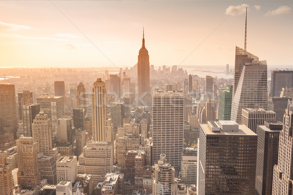 Empire State Building afbeelding New York gebouw stad stedelijke Stockfoto © magann