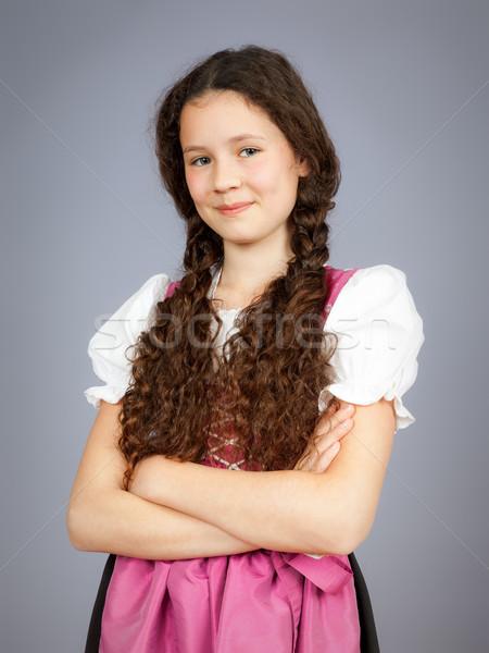 traditional bavarian girl Stock photo © magann