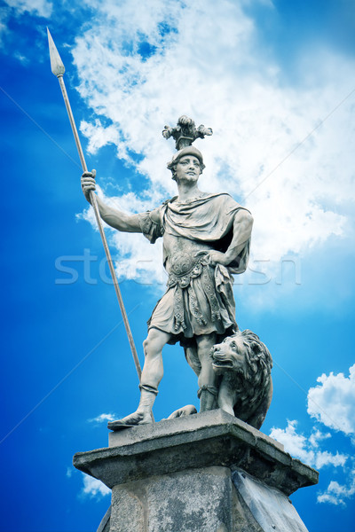 male statue with a lance Stock photo © magann