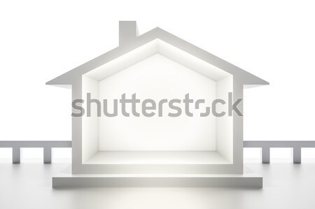 Maison blanche 3D maison résumé modèle Photo stock © magann