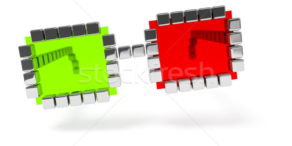 abstract red green glasses icon Stock photo © magann