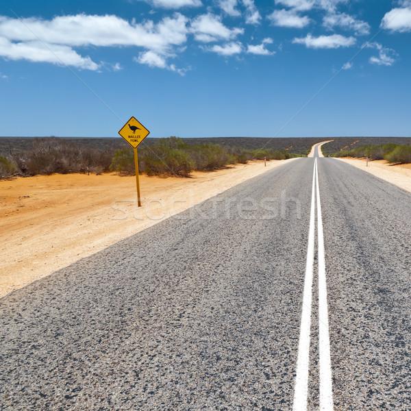 дорожный знак изображение Австралия природы улице фон Сток-фото © magann