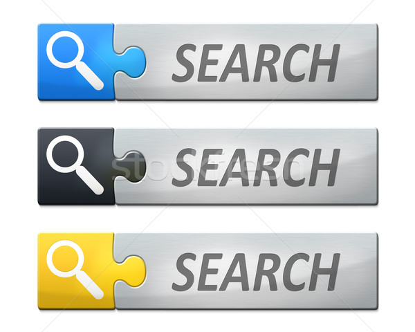 linked search banner Stock photo © magann