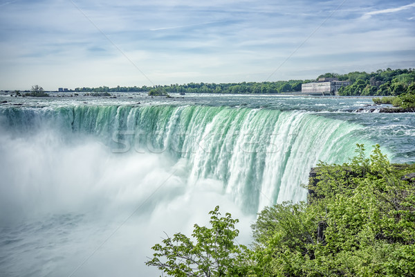 Foto d'archivio: Cascate · del · Niagara · immagine · cielo · natura · estate · blu